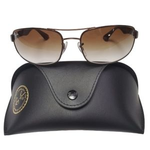 Ray-Ban Matte Brown with Brown Gradient Sunglasses